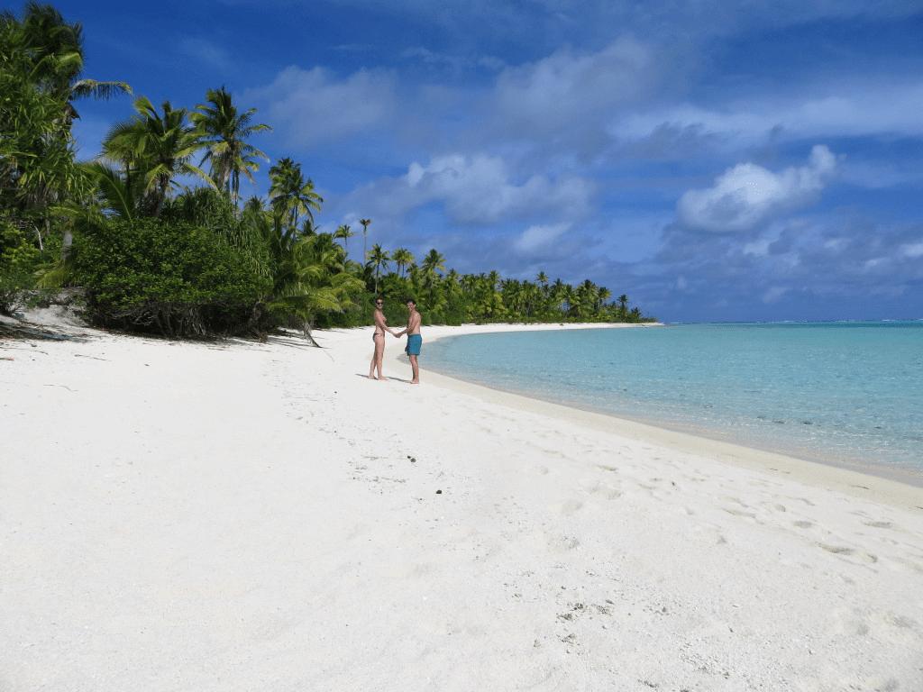 Beach stroll on Cook Islands