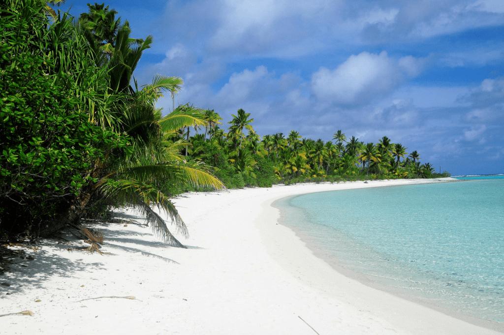 Paradise beach in Aitutaki