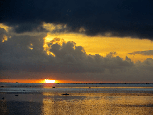 Sunset at Cook Islands