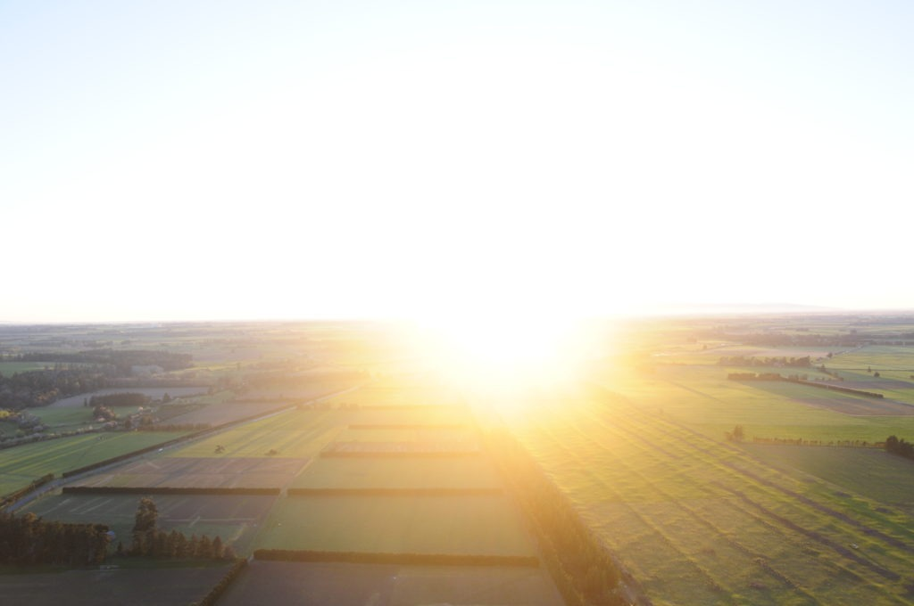 Sunrise over New Zealand