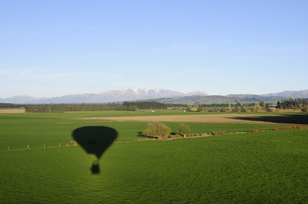 Shade of a hot air balloon