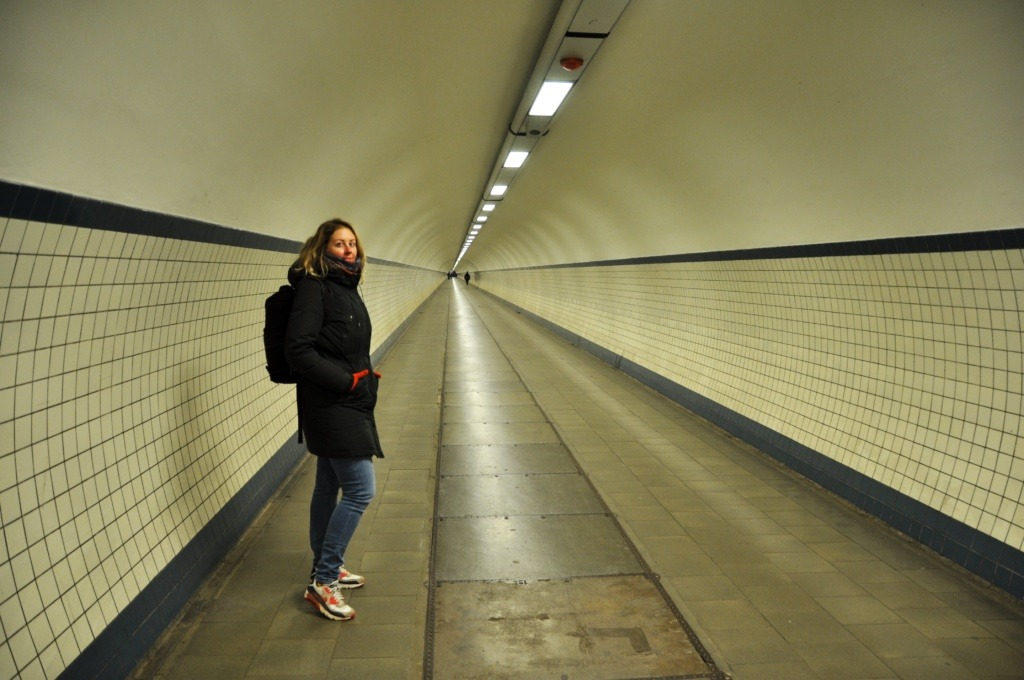 Antwerp pedestrian tunnel