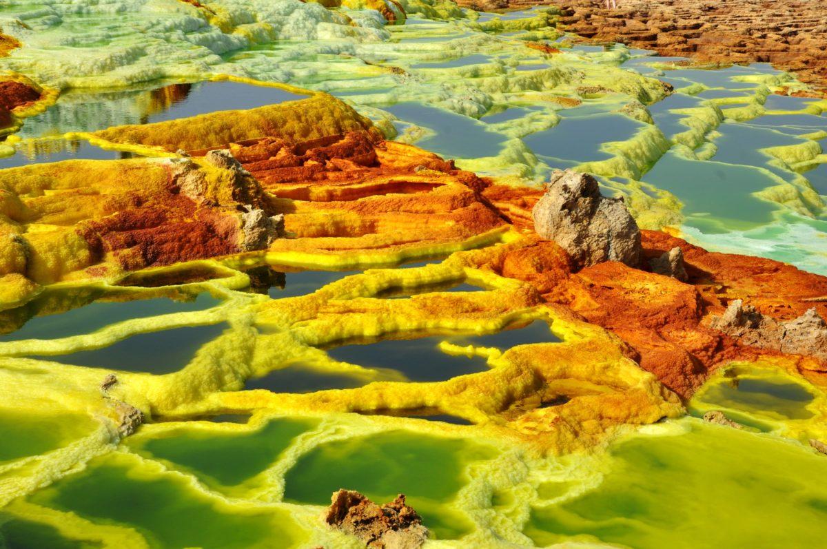 Surreal landscape in the Danakil Depression