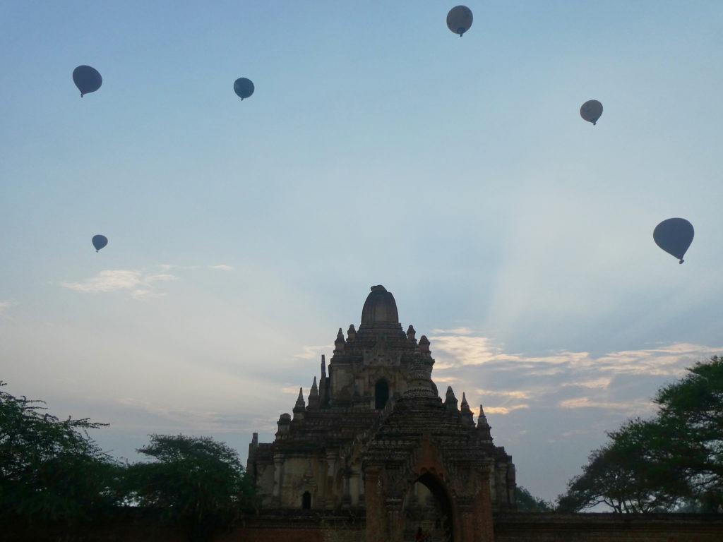 Balloon filled skies in Bagan