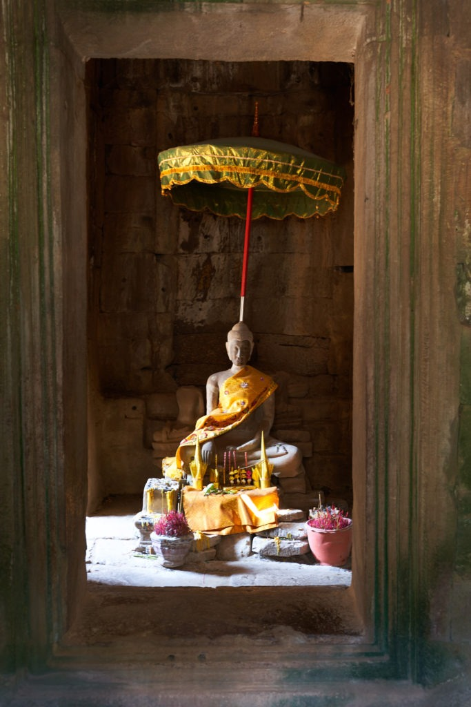 Buddhist altar in Angkor