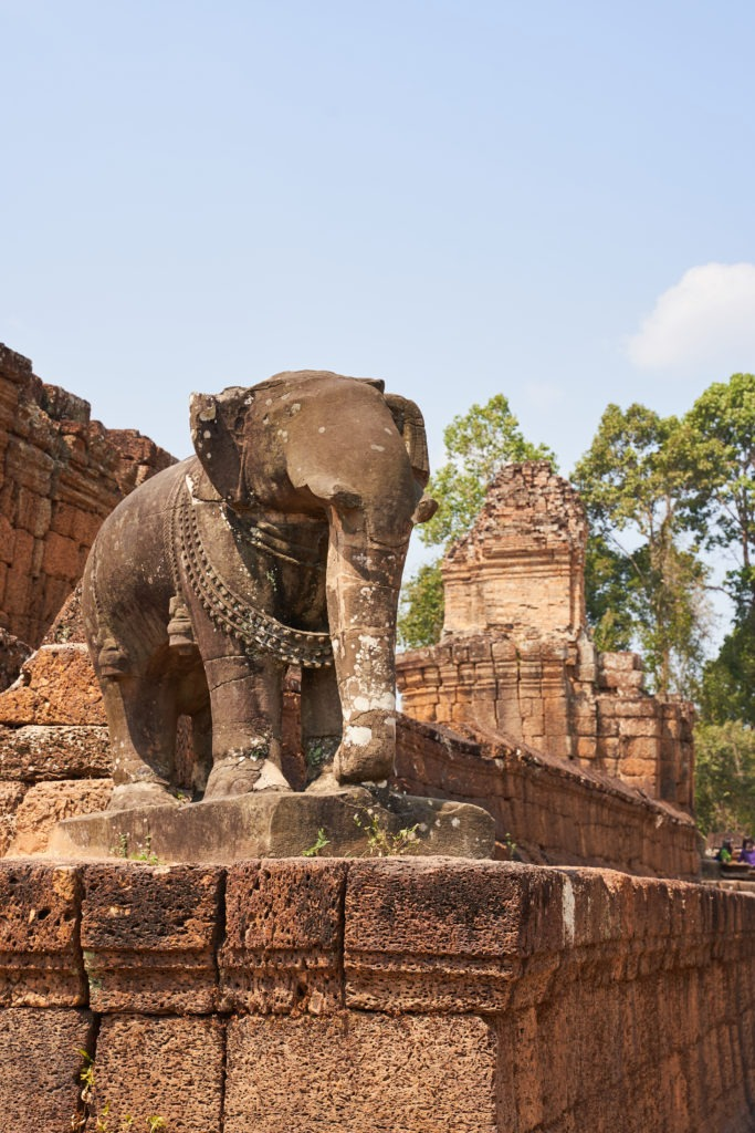 Elephant statue at East Mebon temple in Angkor