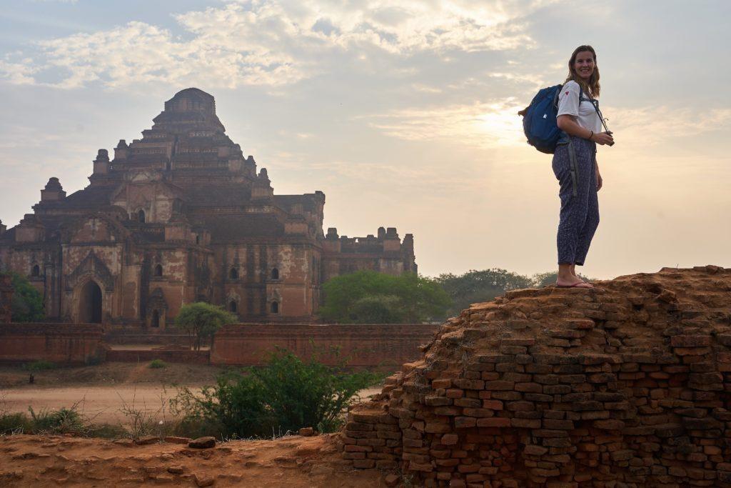 Enjoying sunrise in Bagan