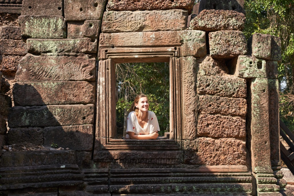 Enjoying the piece and quiet in Angkor