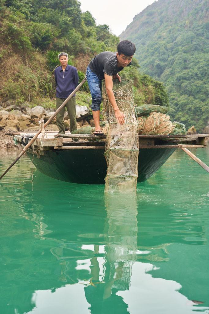 Fishermen at work
