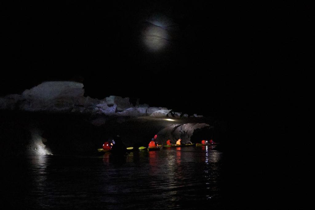 Kayakking through caves in Lan Ha Bay