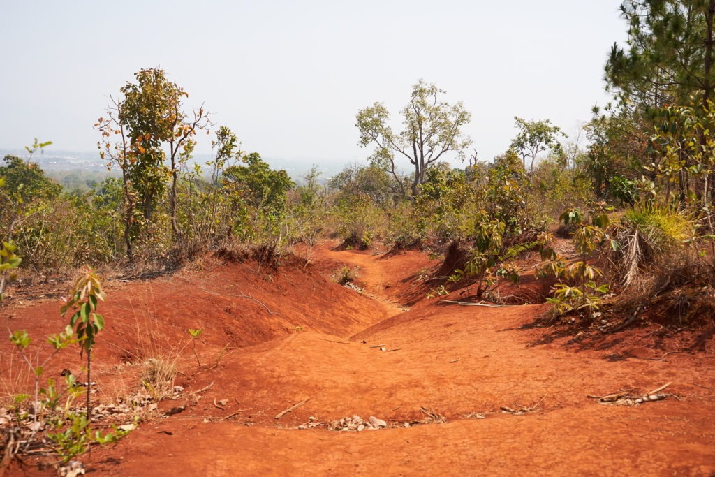 Red dirt hiking trail