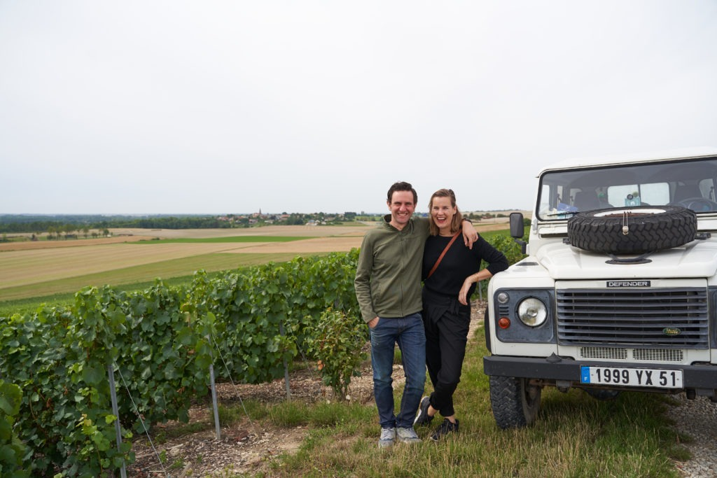 Champagne tour with a jeep