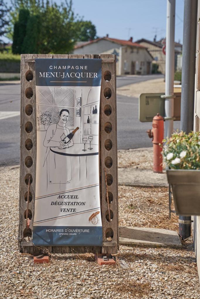 Menu Jacquier champagne house