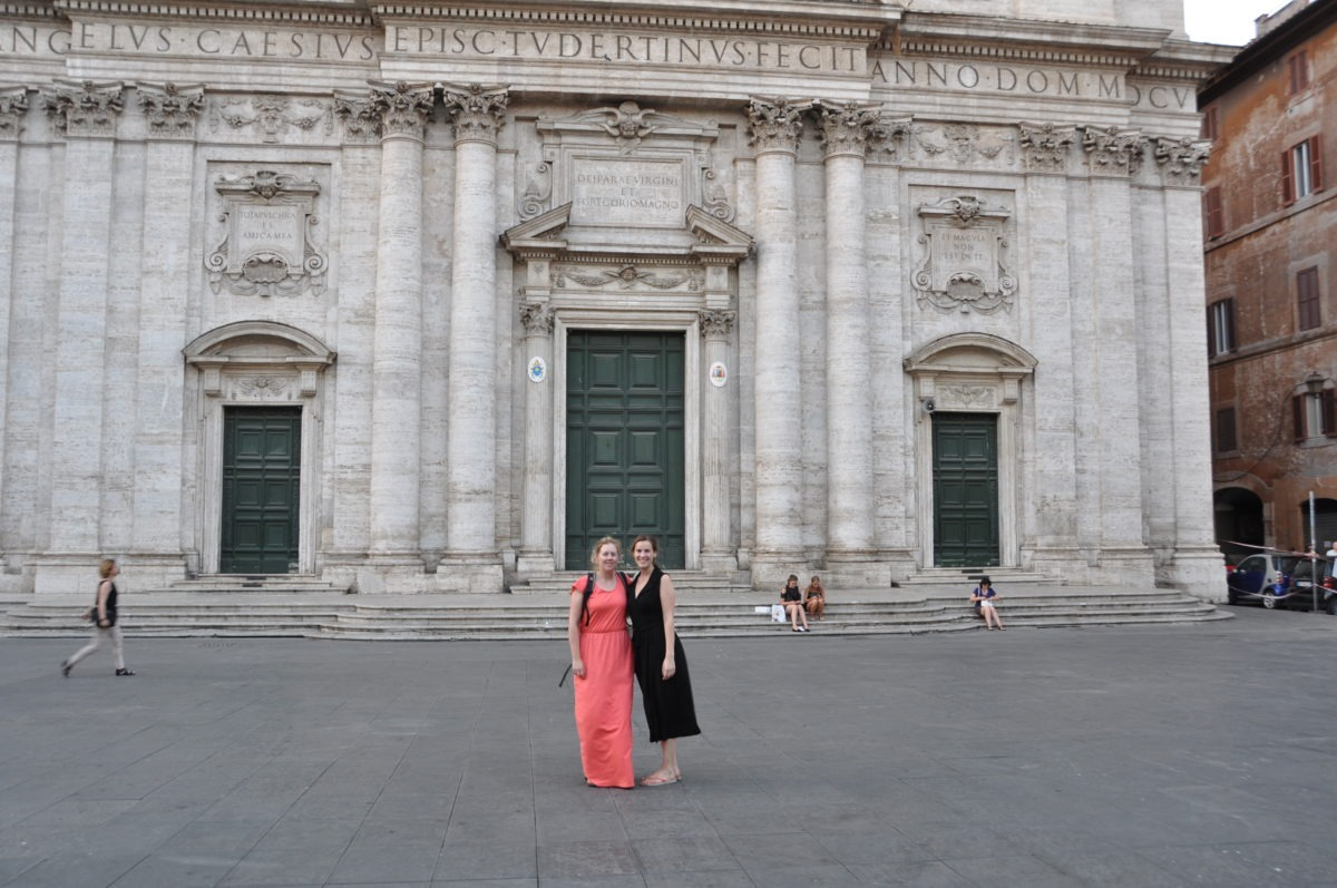 Sanne and Evelien in Rome