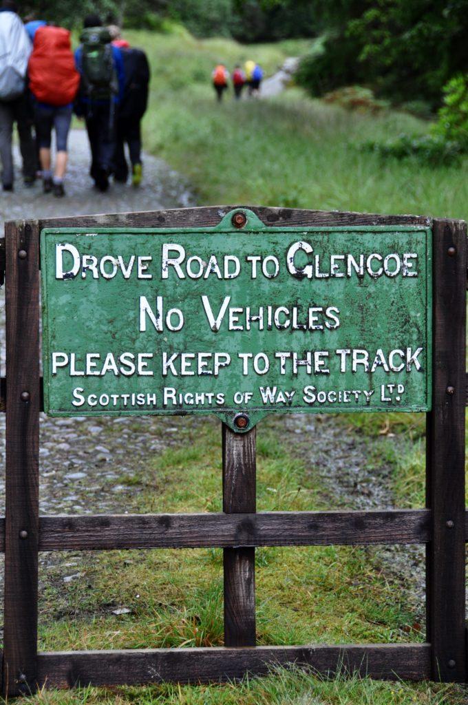 Drove road to Glencoe