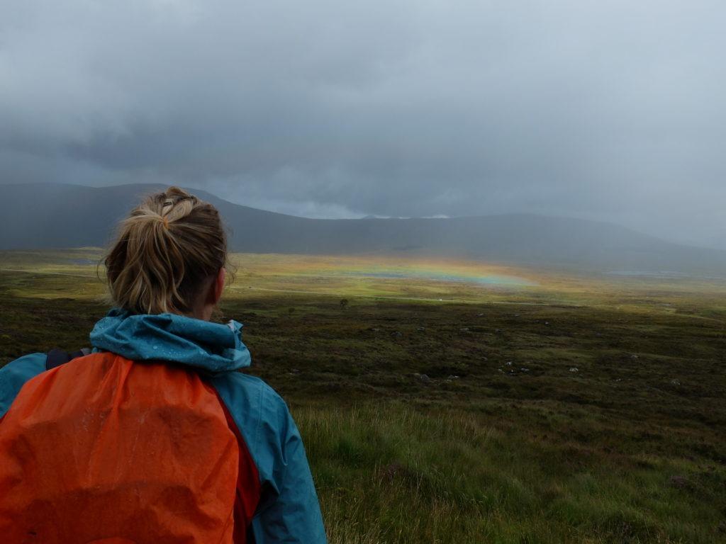 Rannoch Moor rainbow