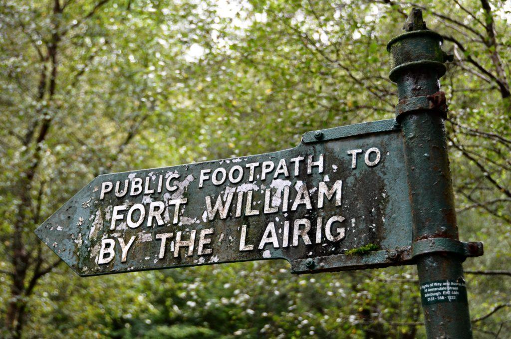Fort William road sign