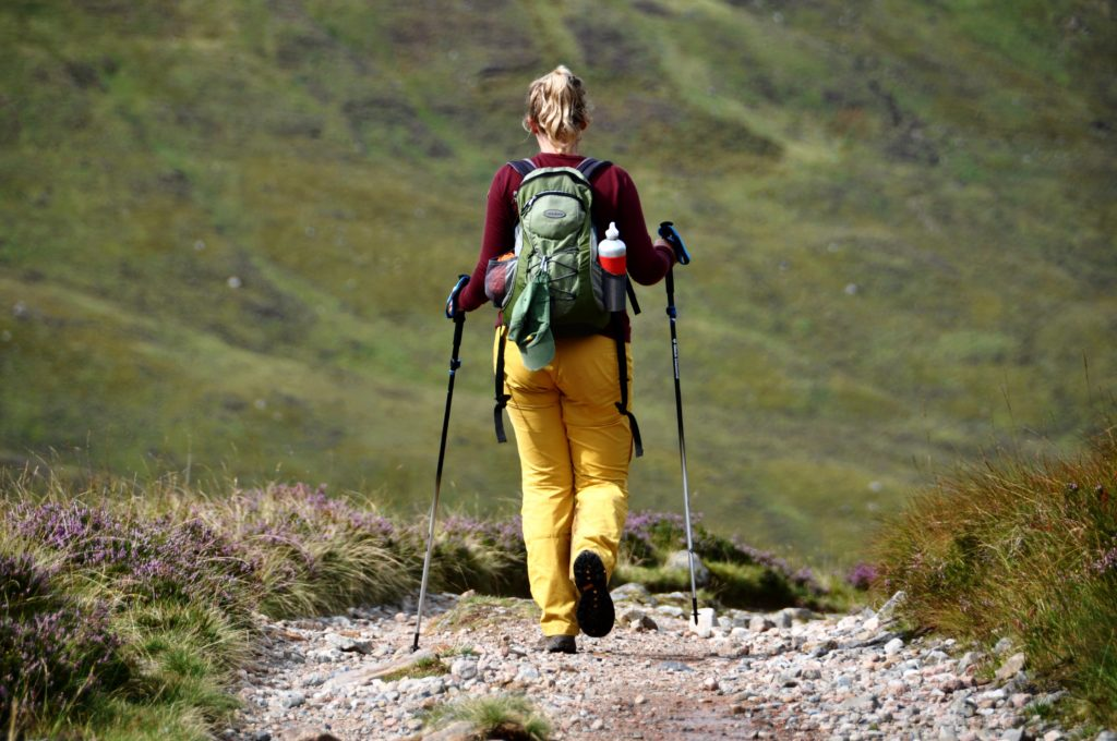 Evelien on the West Highland Way