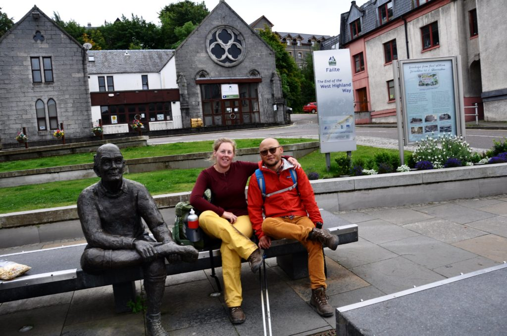 Fort William - Statue marking the end of the West Highland Way