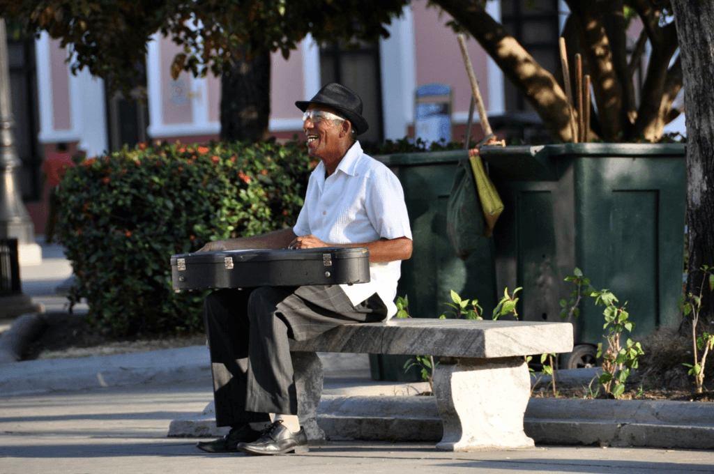 Musician on the streets of Cienfiegos
