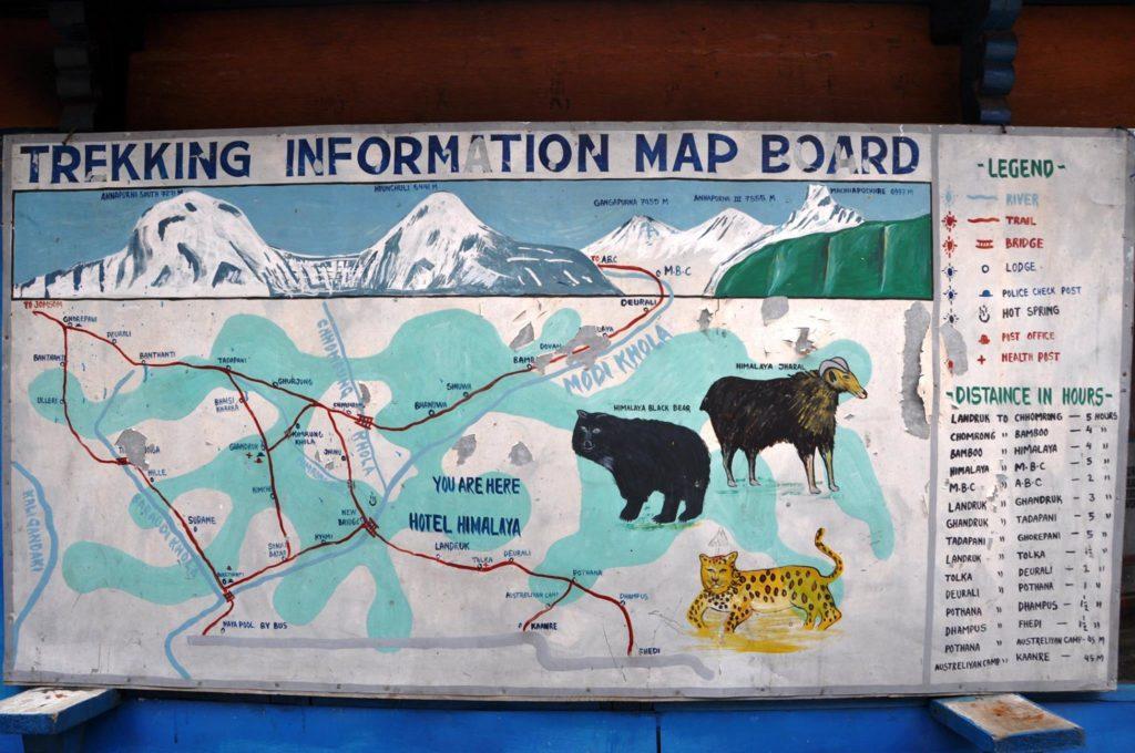 Poon Hill trekking map