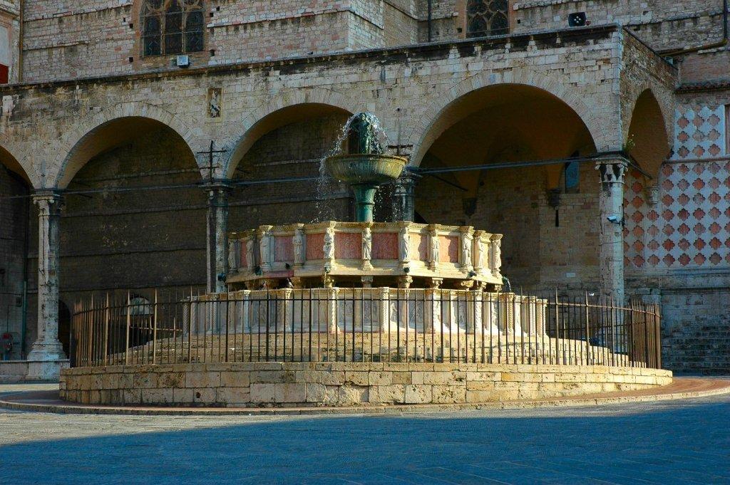Fountain in Piazza IV Novembre Perugia