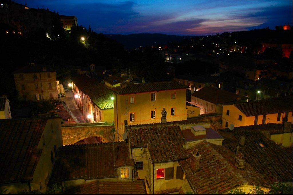 Perugia at night