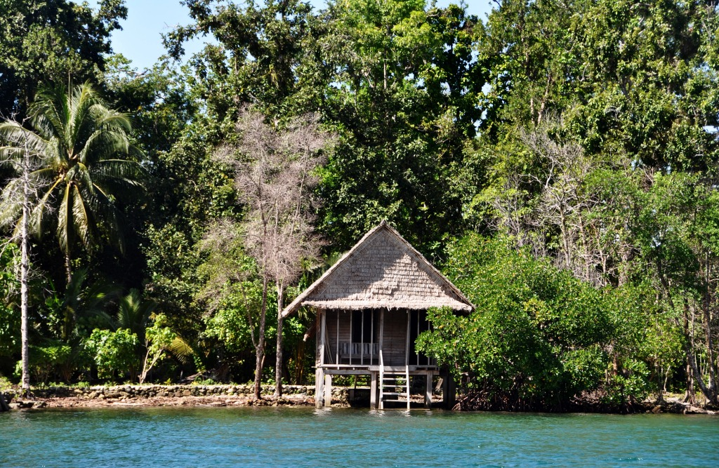 Our bungalow in Marovo Lagoon in Solomon Islands