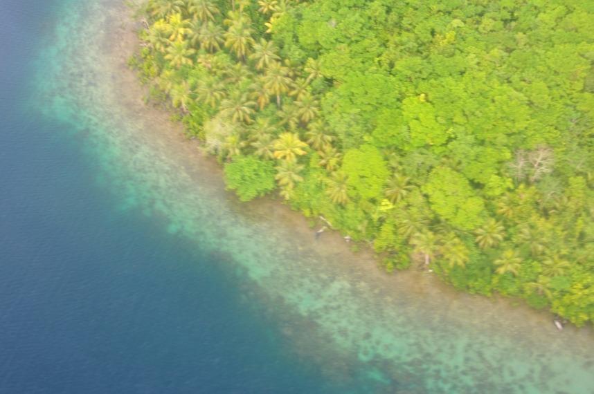 Marovo Lagoon Island from the plane