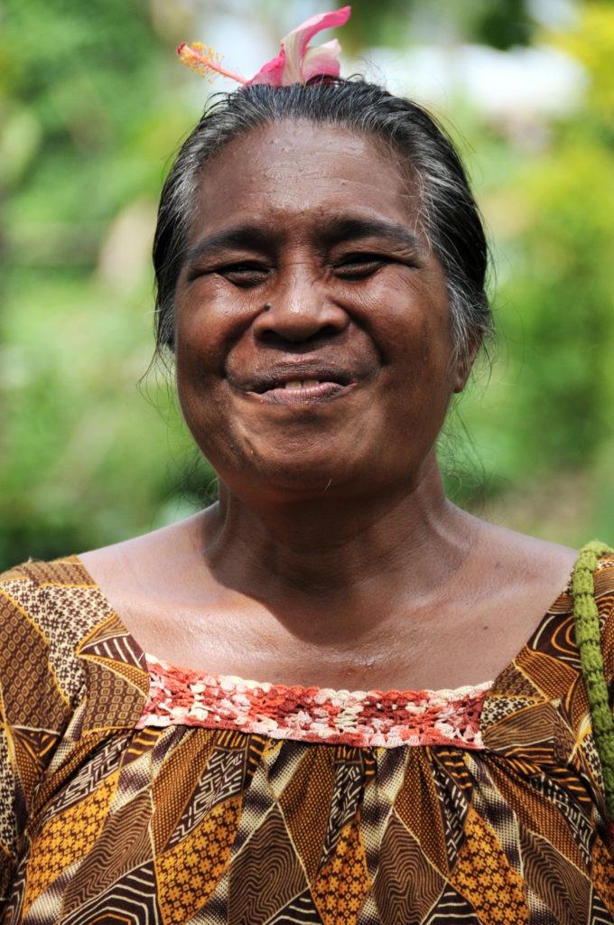 Local woman, Marovo Lagoon, Solomon Islands