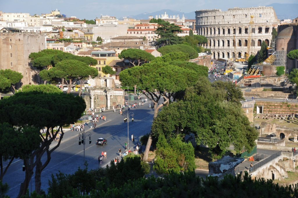 View from the monument on Piazza Venezia