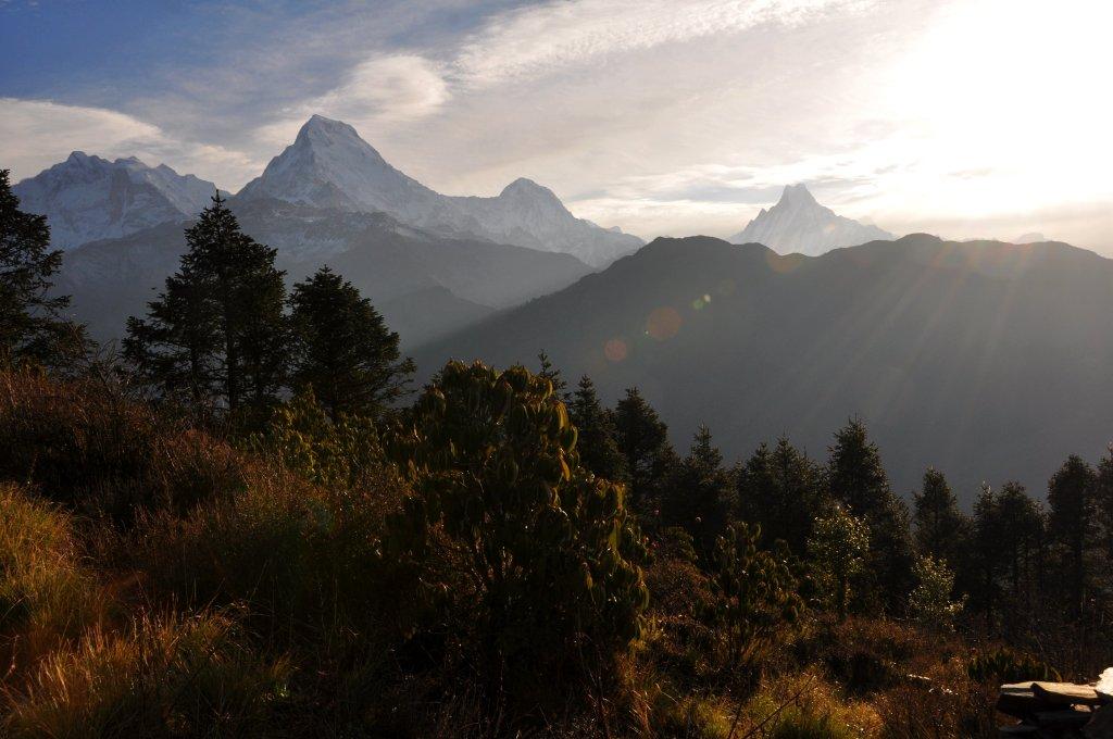 Poon Hill view on Annapurna Range